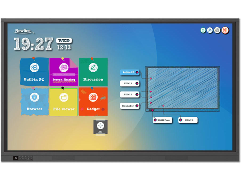 NEWLINE INTERACTIVE, INC TRUTOUCH 750RS ULTRA-HD LED MULTI-TOUCH DISPLAY